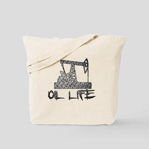 Diamond Plate Oil Life Pumpjack Tote Bag