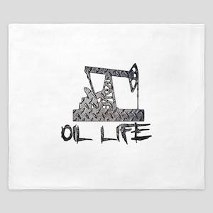 Diamond Plate Oil Life Pumpjack King Duvet