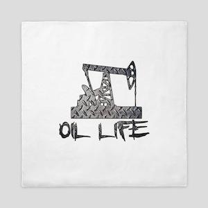 Diamond Plate Oil Life Pumpjack Queen Duvet