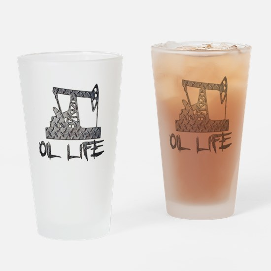 Diamond Plate Oil Life Pumpjack Drinking Glass
