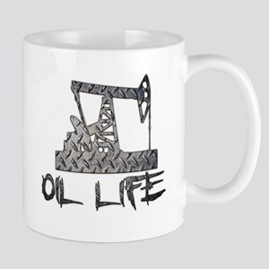 Diamond Plate Oil Life Pumpjack Mugs
