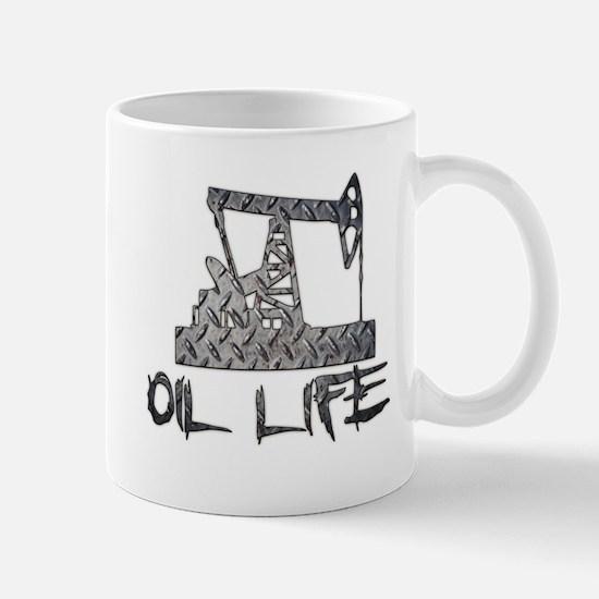 Diamond Plate Oil Life Pumpjack Mugs