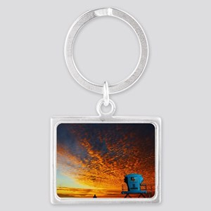Cardiff Tower One0 Landscape Keychain