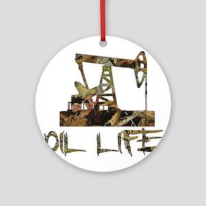 Camo Oil Life Ornament (Round)