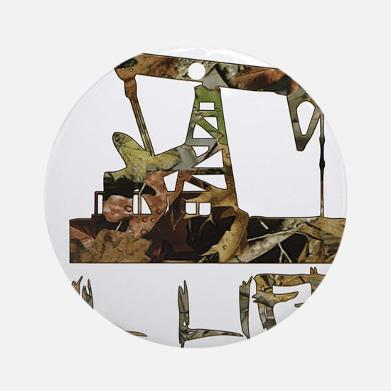 Camo Oil Life Ornament (Round)