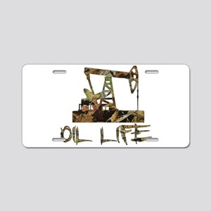 Camo Oil Life Aluminum License Plate