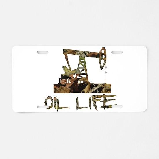 Camo Oil Life Aluminum License Plate