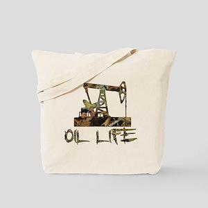 Camo Oil Life Tote Bag