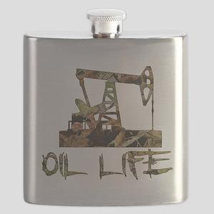 Camo Oil Life Flask