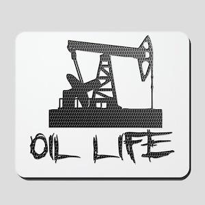 Honeycomb Oil Life Pumpjack Mousepad