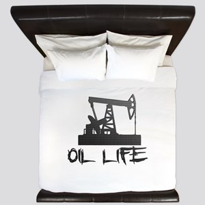 Honeycomb Oil Life Pumpjack King Duvet
