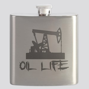 Honeycomb Oil Life Pumpjack Flask