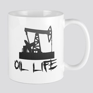 Honeycomb Oil Life Pumpjack Mugs