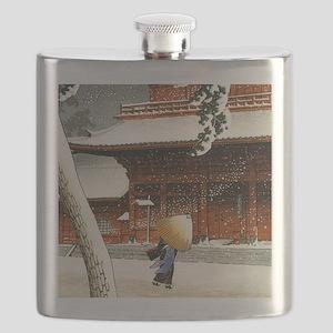 JAPANESE SNOW_VINTAGE SNOW BLOCK PRINT Flask