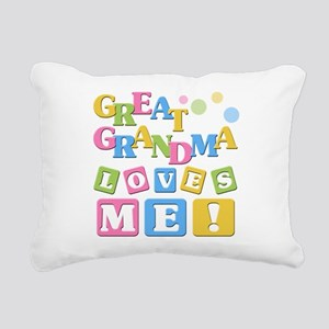 Great Grandma Loves Me Rectangular Canvas Pillow