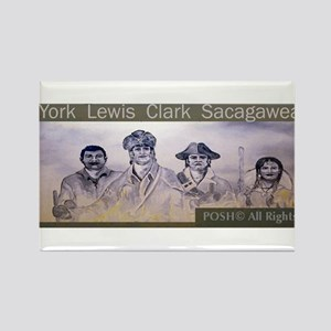 Lewis and Clark collectors Wi Rectangle Magnet