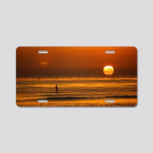 Endless Sunset Aluminum License Plate