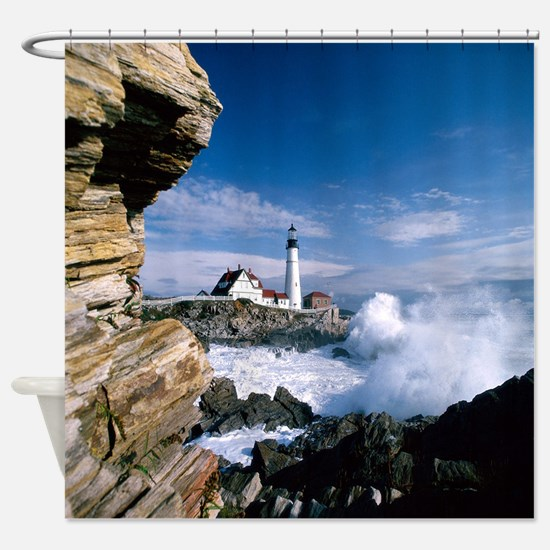 The Lighthouse IV Shower Curtain
