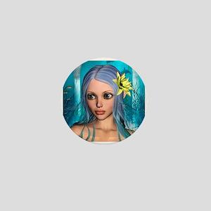Ocean Mermaid Mini Button