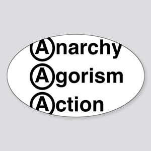 Anarchy Agorism Action Sticker