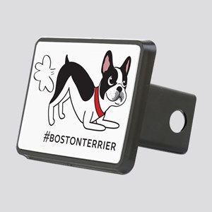 Boston terrier fart proble Rectangular Hitch Cover