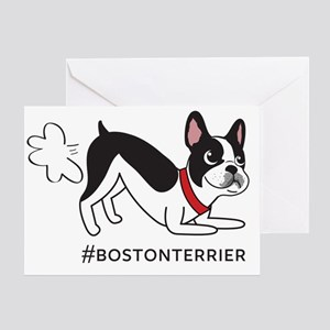 Boston terrier fart problems Greeting Card