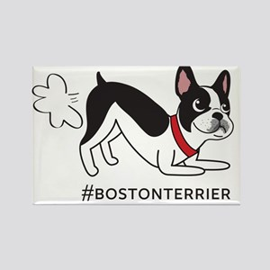 Boston terrier fart problems Rectangle Magnet