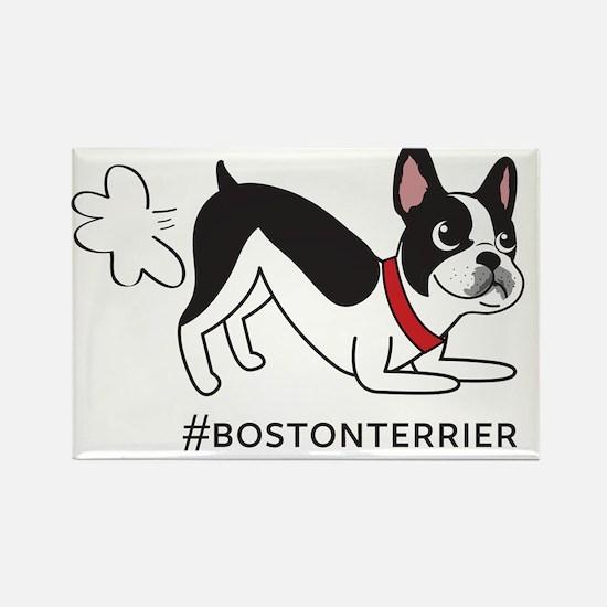 Boston terrier fart problems Rectangle Magnet