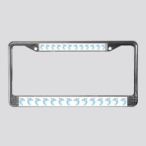 Tribal Dolphin License Plate Frame