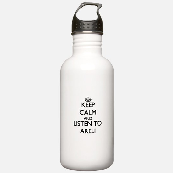 Keep Calm and listen to Areli Water Bottle