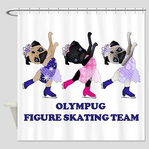 Olympug Figure Skating Team Shower Curtain