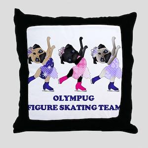 Olympug Figure Skating Team Throw Pillow