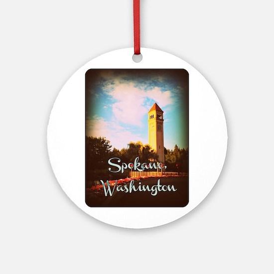 Spokane, Washington Round Ornament