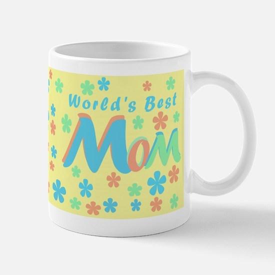 Flowers World's Best Mom Mug