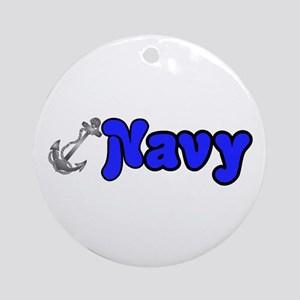 Navy Ornament (Round)