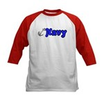 Navy Kids Baseball Jersey