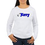Navy Women's Long Sleeve T-Shirt