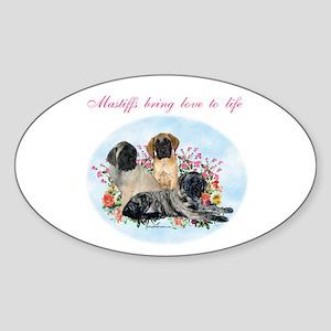 Mastiffs bring Oval Sticker