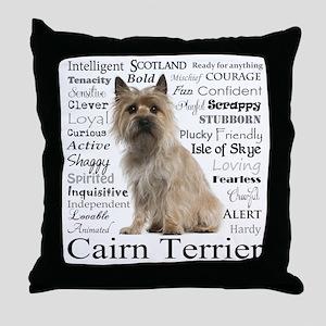 Cairn Terrier Traits Throw Pillow