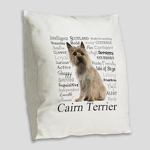 Cairn Terrier Traits Burlap Throw Pillow