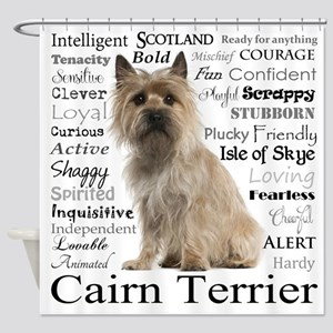 Cairn Terrier Traits Shower Curtain
