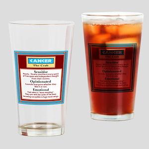 Cancer-Zodiac Sign Drinking Glass