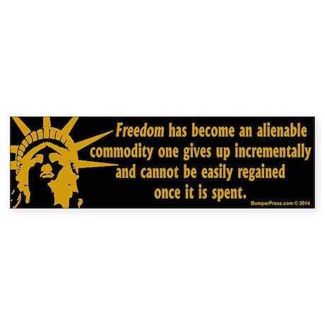 Alienable Freedom Bumper Sticker