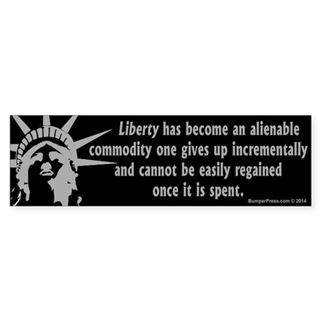 Alienable Liberty Bumper Sticker