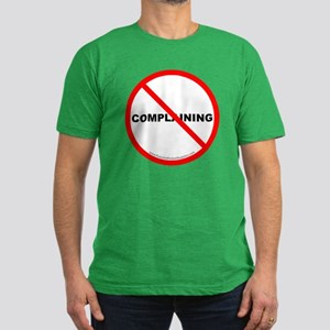 Stop Complaining Men's Fitted T-Shirt (dark)