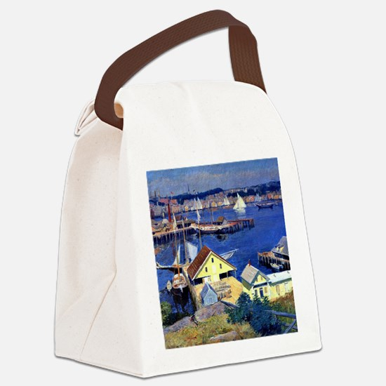 Duveneck - Yellow Pier Shed, Fran Canvas Lunch Bag
