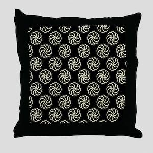 Cream & Black Damask #38 Throw Pillow