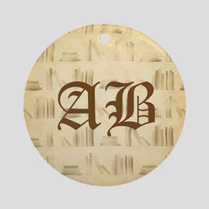 Vintage Style Custom Monogram Ornament (Round)