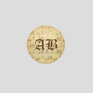 Vintage Style Custom Monogram Mini Button