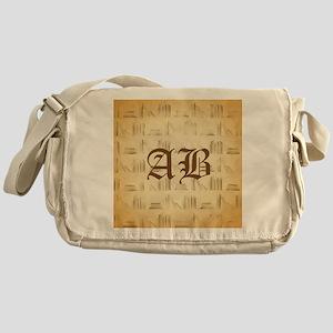 Vintage Style Custom Monogram Messenger Bag
